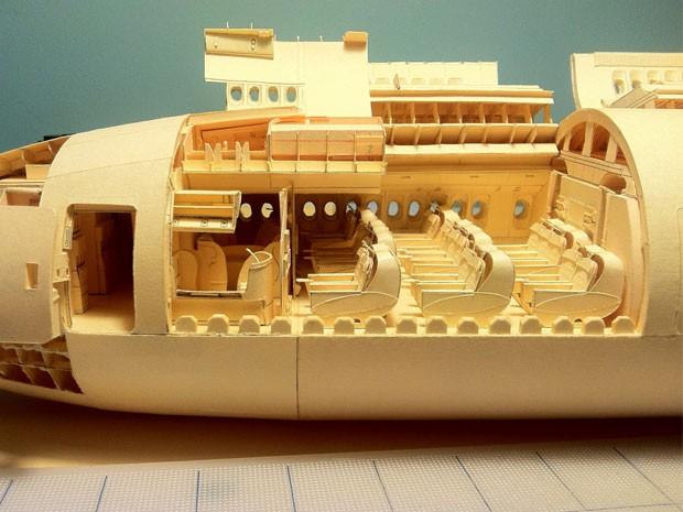 Detalhe dos assentos no interior do modelo de Luca (Foto: Reprodução/facebook/ Luca Iaconi-Stewart)