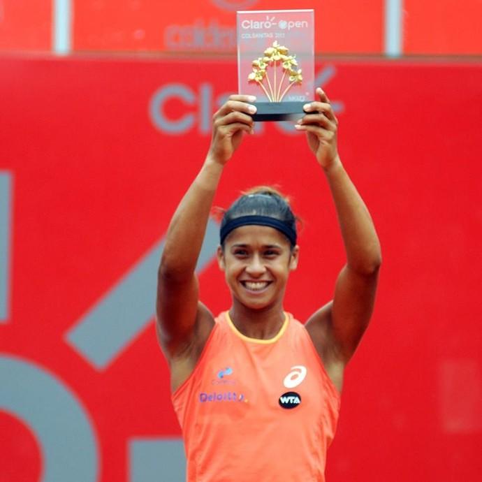 Teliana Pereira campeã WTA de Bogotá tênis (Foto: Divulgação)