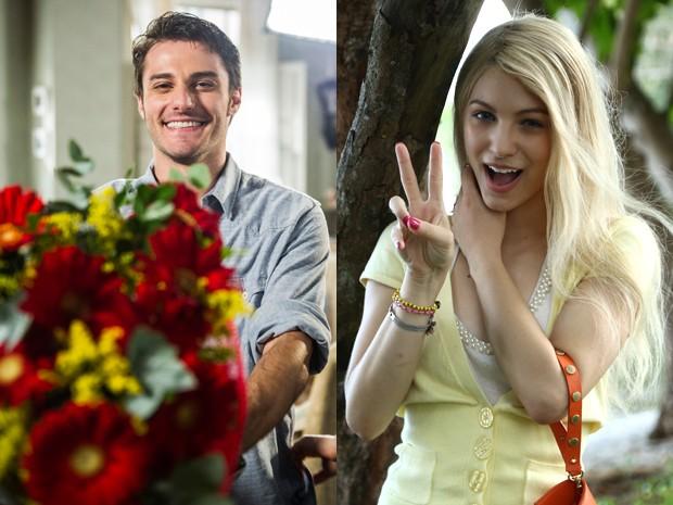 Hugo Bonemer será Nicolas em Alto Astral; seu par romântico em Malhação, Lais Pinho, fez flashback como Scarlett na novela das 7 (Foto: Cynthia Salles/ Raphael Dias/ Grupo Globo)