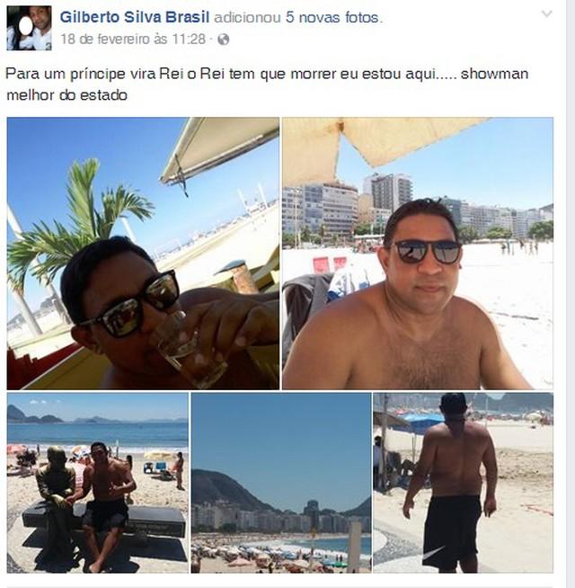 Homem apontado como líder da quadrilha se autodenomina de 'Showman' em fotos na web (Foto: Polícia Civil/Divulgação)
