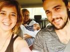 Paloma Duarte mostra foto da família: 'Dia de passear'