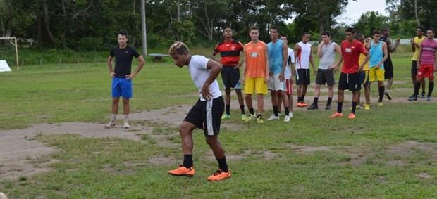 Ypiranga-AP treina para a estreia na Série D do Brasileirão (Foto: Gabriel Penha/GE-AP)