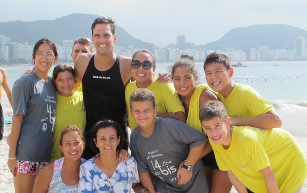 Família com Luiz Lima Travessia dos Fortes (Foto: Igor Christ/Globoesporte.com)