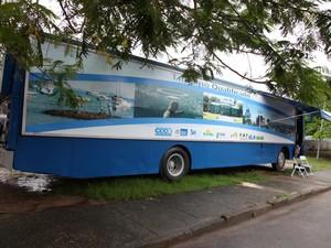 Ônibus do projeto estarão nos municípios (Foto: Divulgação)