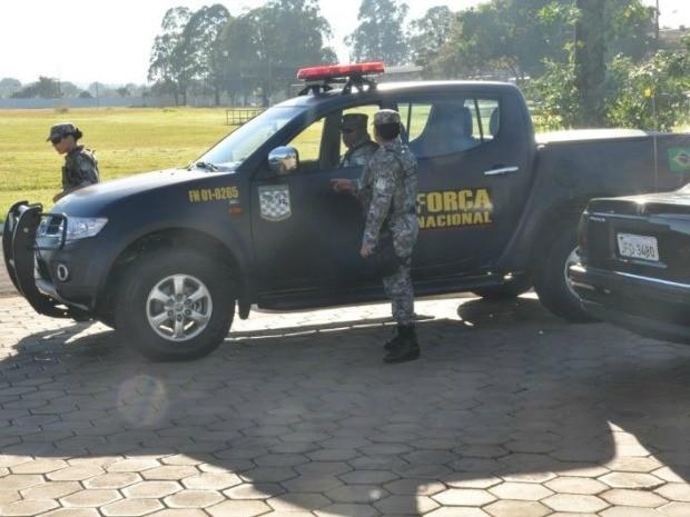 Presença da Força Nacional é para dar segurança nas fronteiras (Foto: Maressa Mendonça/G1 MS)