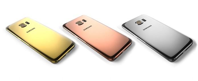 Versões do Galaxy S6 e S6 Edge ganham modelo de luxo (Foto: Divulgação/Goldgenie)