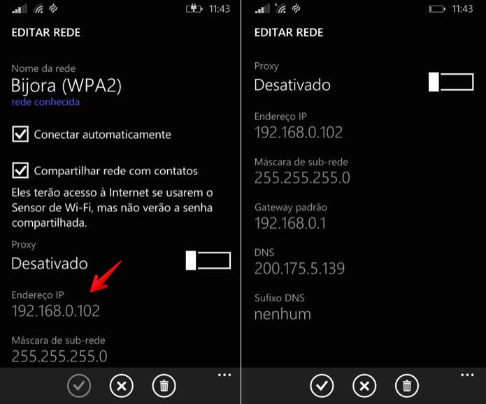 Abra as configurações de Wi-Fi para localizar o IP (Foto: Reprodução/Helito Bijora)