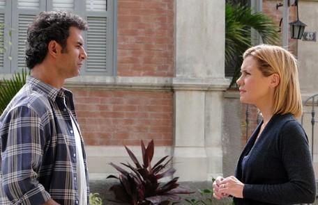 A mocinha de 'Morde & assopra' foi a paleontóloga Júlia (Adriana Esteves), apaixonada por Abner (Marcos Pasquim) Divulgação/TV Globo
