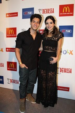 Giovanna Lancellotti e Arthur Aguiar no Prêmio Multishow (Foto: Foto Rio News)