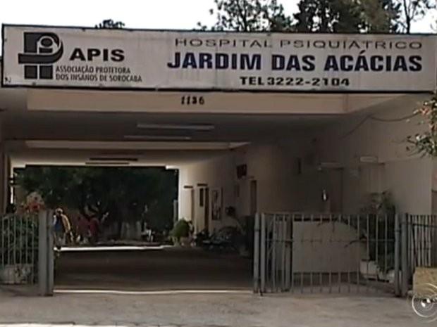 Hospital Mental foi fechado em Sorocaba (Foto: Reprodução/ TV TEM)
