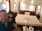 Belo e Gracyanne curtem segunda lua de mel após boatos de crise