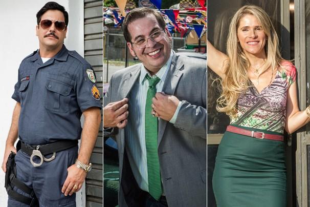 Lúcio Mauro Filho, Leandro Hassum e Ingrid Guimarães estrelam a série Chapa Quente (Foto: Globo)