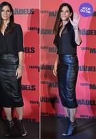 Look do dia: Sandra Bullock usa preto da cabeça aos pés em evento