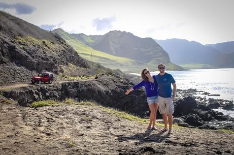 Max Fercondini e Amanda Richter de férias no Havaí (Foto: Arquivo pessoal)