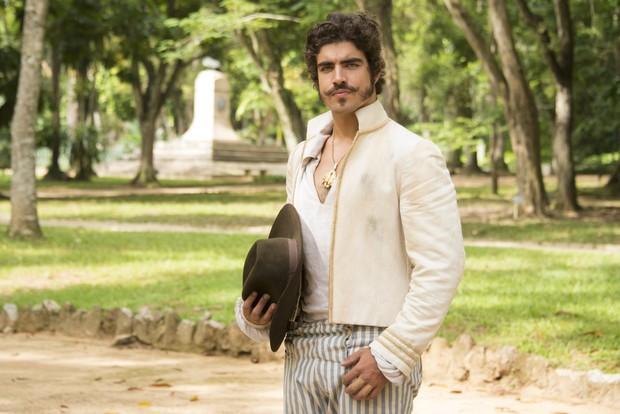 Caio Castro vai interpretar Dom Pedro na novela Novo Mundo (Foto: Globo/César Alves)
