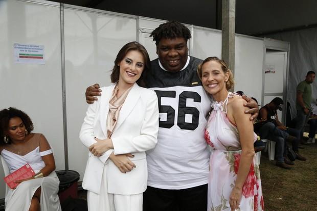 Alessandra Maestrini, Sérgio Loroza e Gabriela Alves (Foto: Felipe Assumpção/AgNews)