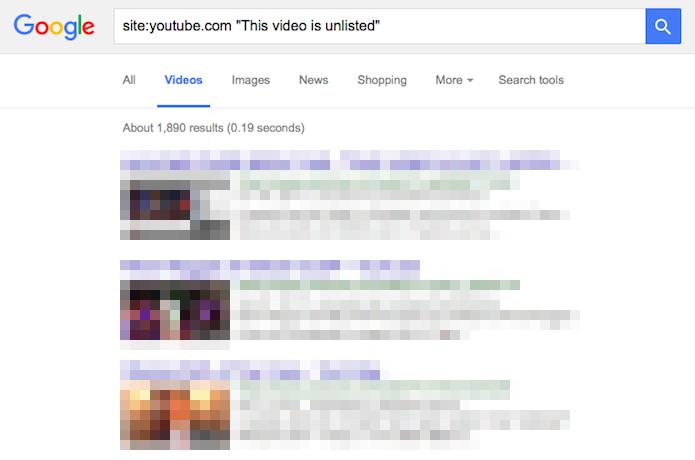 Localizando vídeos não listados usando o Google (Foto: Reprodução/Helito Bijora)