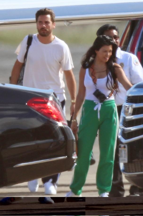 Kourtney Kardashian e Scott Disick (Foto: AKM/GSI)