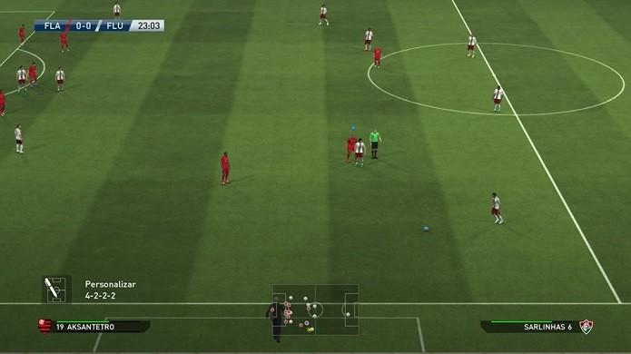 Mude o esquema no decorrer da partida (Foto: Reprodução/Thiago Barros)