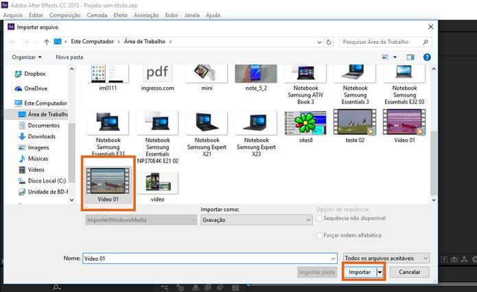 Selecione o vídeo no seu computador (Foto: Reprodução/Barbara Mannara)