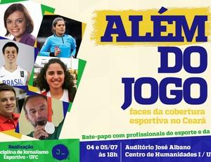 Cartaz Além do Jogo ciclo de debates jornalismo esportivo (Foto: Divulgação)