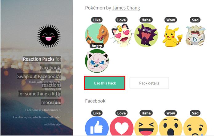 Ative o pacote de reações de Pokémon (Foto: Reprodução/Paulo Alves)