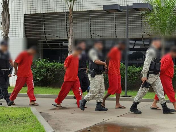 Presos operação Uberlândia (Foto: Stanley Matias/G1)