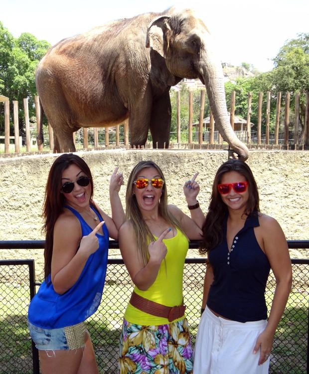 Bailarinas foram passear no zoológico; clique e veja a galeria! (Foto: Domingão do Faustão / TV Globo)