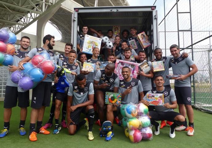 Botafogo Dia das Crianças (Foto: Jessica Mello/ GloboEsporte.com)