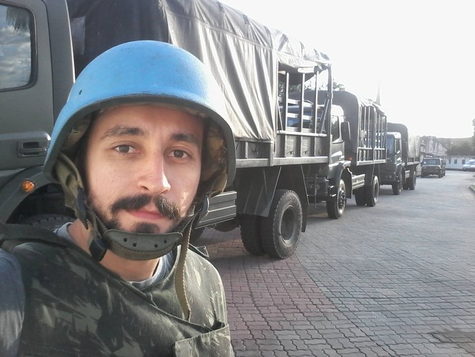 Moacyr Massulo encara curso das Forças Armadas para jornalistas (Foto: Arquivo Pessoal)
