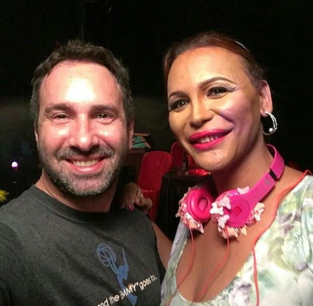 O diretor Beto Ribeiro e Luisa Marilac  (Foto: arquivo pessoal)