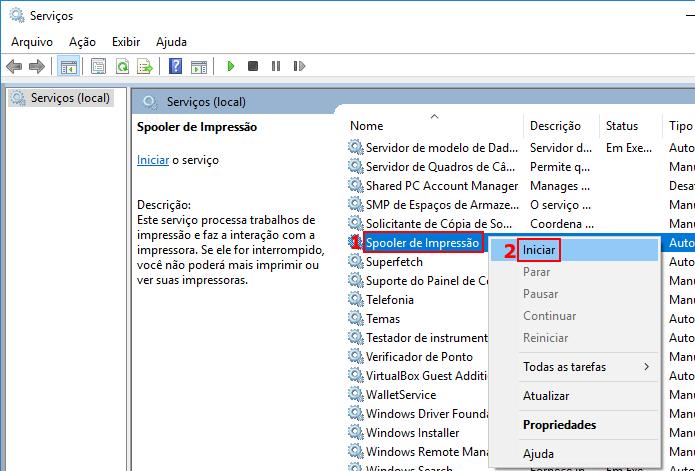 Iniciando o serviço de fila de impressão do Windows (Foto: Reprodução/Edivaldo Brito)