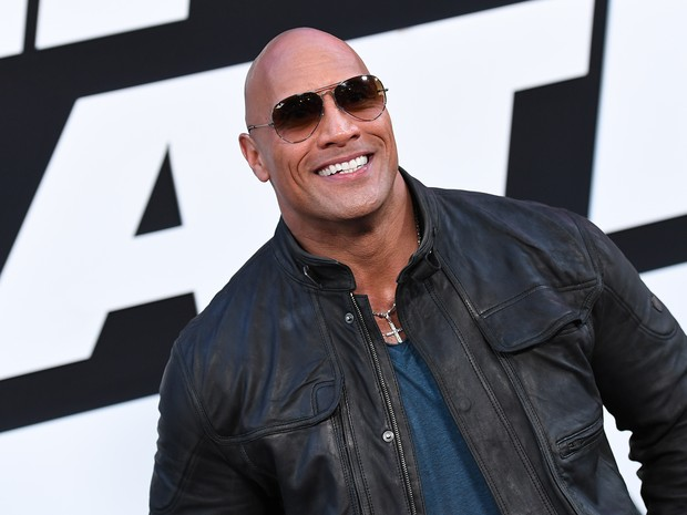 Dwayne Johnson em première de filme em Nova York, nos Estados Unidos (Foto: Angela Weiss/ AFP)