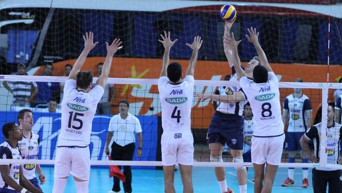 Sada Cruzeiro x Montes Claros, vôlei (Foto: Renato Araújo / Divulgação Sada Cruzeiro)