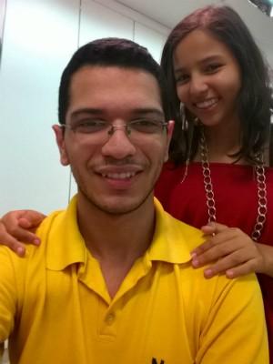 Carolina atribui ao irmão Ramon a alta na imunidade em Piracicaba (Foto: Carolina de Souza/arquivo pessoal)