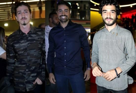 Johnny Massaro, Ricardo Pereira e Caio Blat: time masculino da trama  (Foto: Raquel Cunha/ TV Globo)