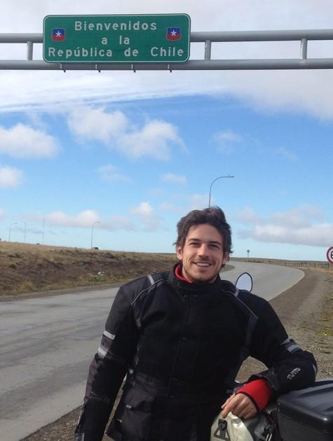 Marco Pigossi a caminho do extremo sul da Argentina (Foto: Arquivo pessoal)