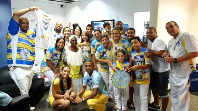Escola de samba Vila Mathias (Foto: Renata Lins)
