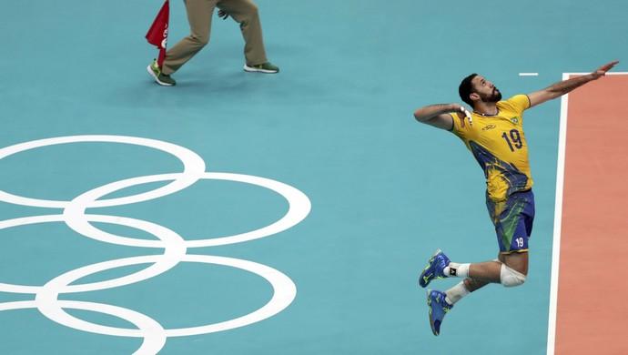 maurício borges, vôlei, olimpíada rio 2016 (Foto: REUTERS / Ricardo Moraes)