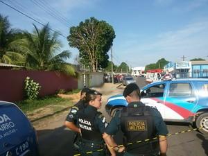 Um dos homicídios aconteceu no bairro Pricumã, na zona Oeste de Boa Vista (Foto: Neidiana Oliveira/ G1 RR)