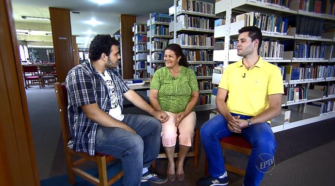 No final da gravação, Guilherme faz uma declaração de amor e agradecimento à mãe (Foto: reprodução EPTV)