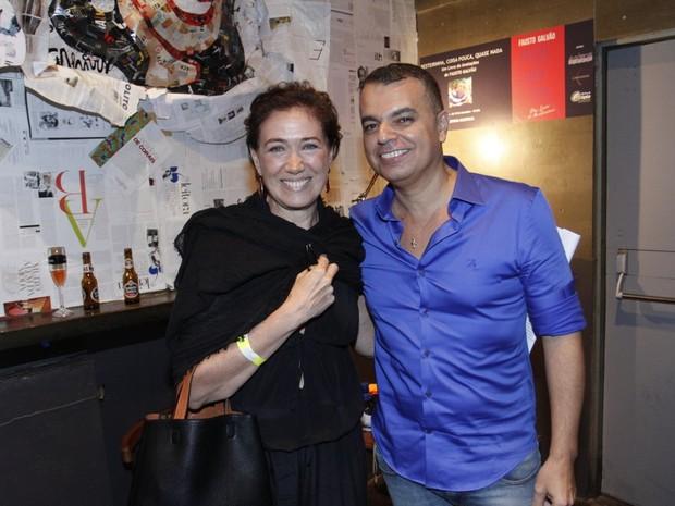 Lilia Cabral e Fausto Galvão em evento na Zona Sul do Rio (Foto: Marcos Ferreira/ Brazil News)