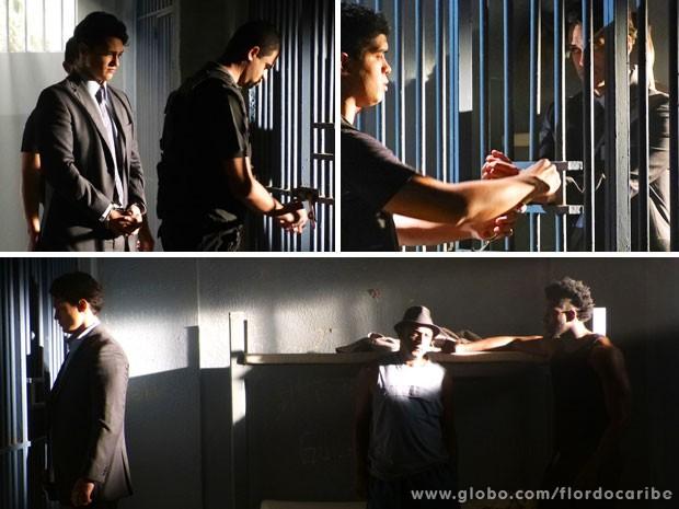 Hélio é preso (Foto: Flor do Caribe / TV Globo)