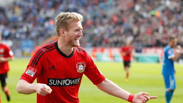 Schuerrle bayer leverkusen gol hoffenheim (Foto: Agência AFP)