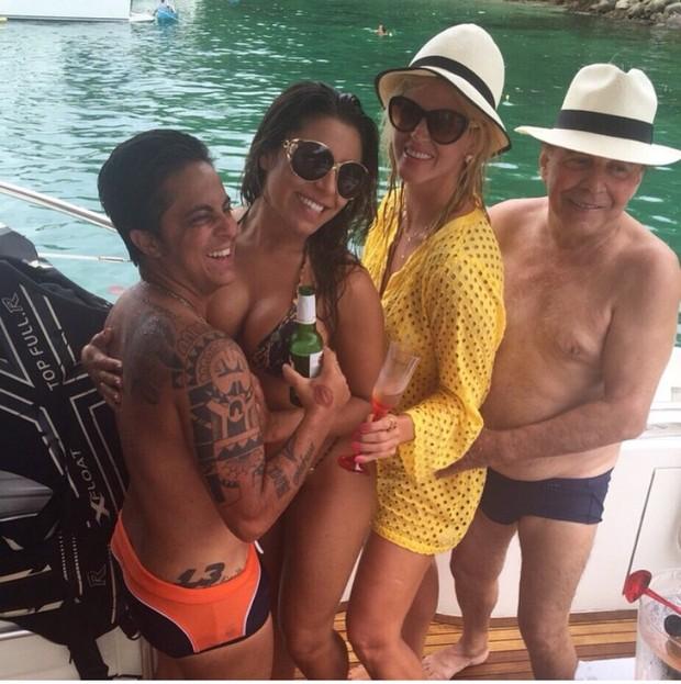 Thammy Miranda, Andressa, Val Marchiori e marido (Foto: Arquivo Pessoal)