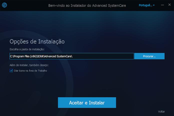 Personalizando instalação do Advanced SystemCare (Foto: Reprodução/Helito Bijora)