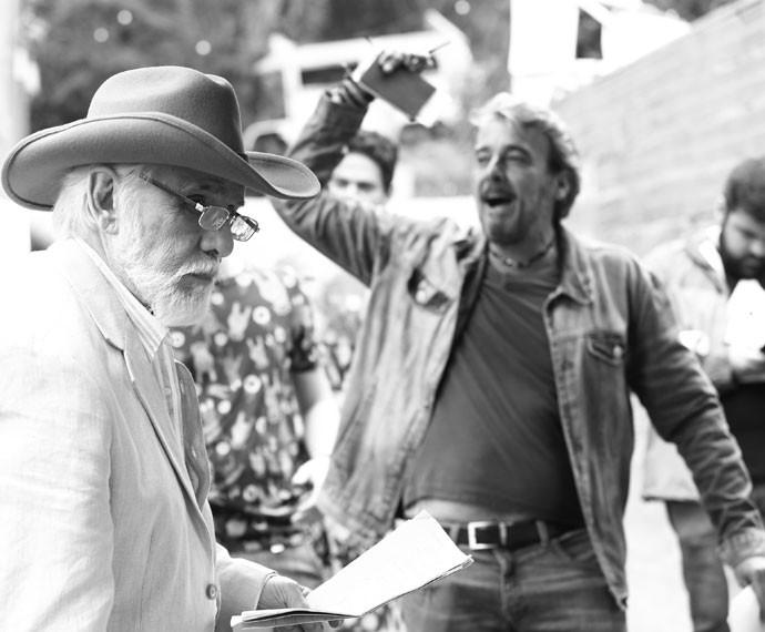 Francisco Cuoco e Alexandre Borges ensaiam (Foto: Raphael Dias/Gshow)