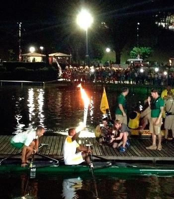 revezamento; tocha olímpica; salvador; dique do tororó; renê pereira (Foto: Thiago Pereira)