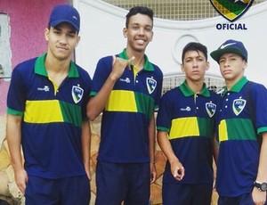 Brutinnho, William, Ratinho e Pablo são anunciados no profissional do Rondoniense  (Foto: Rondoniense/ Divulgação )