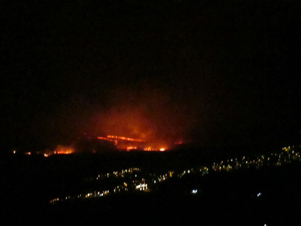 Fogo em complexo turístico pode ter deixado vítimas em Carrancas (Foto: Renato Rossi)